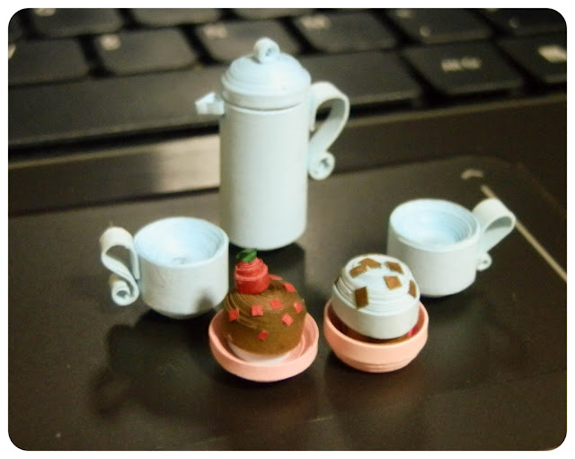 Miniature coffee pot and coffee cup