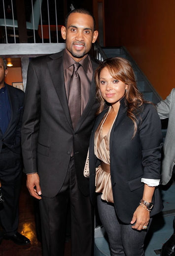 grant hill tattoo. Grant Hill and his wife Tamia