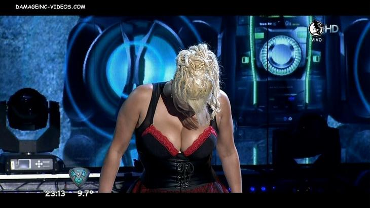 Argentina celebrity Nazarena Velez hot cleavage damageinc HD video