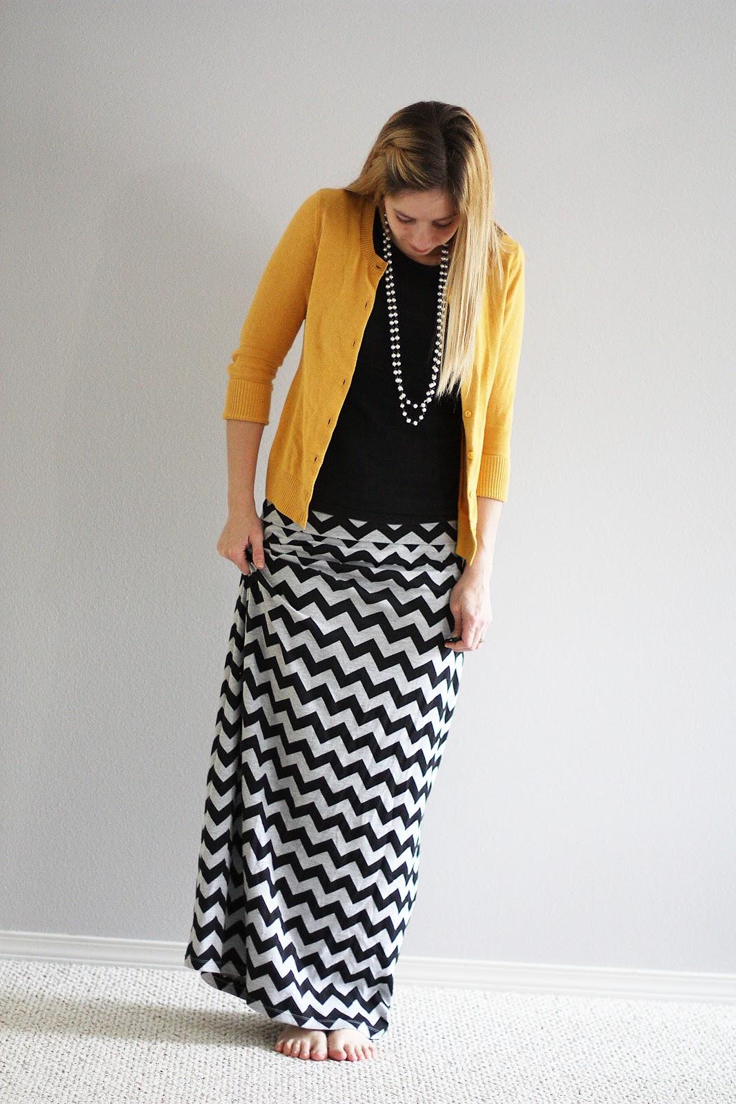 A Chevron Maxi Skirt - Sew Much Ado