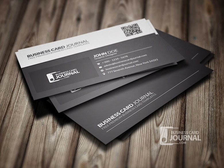QR Code Business Card PSD Template