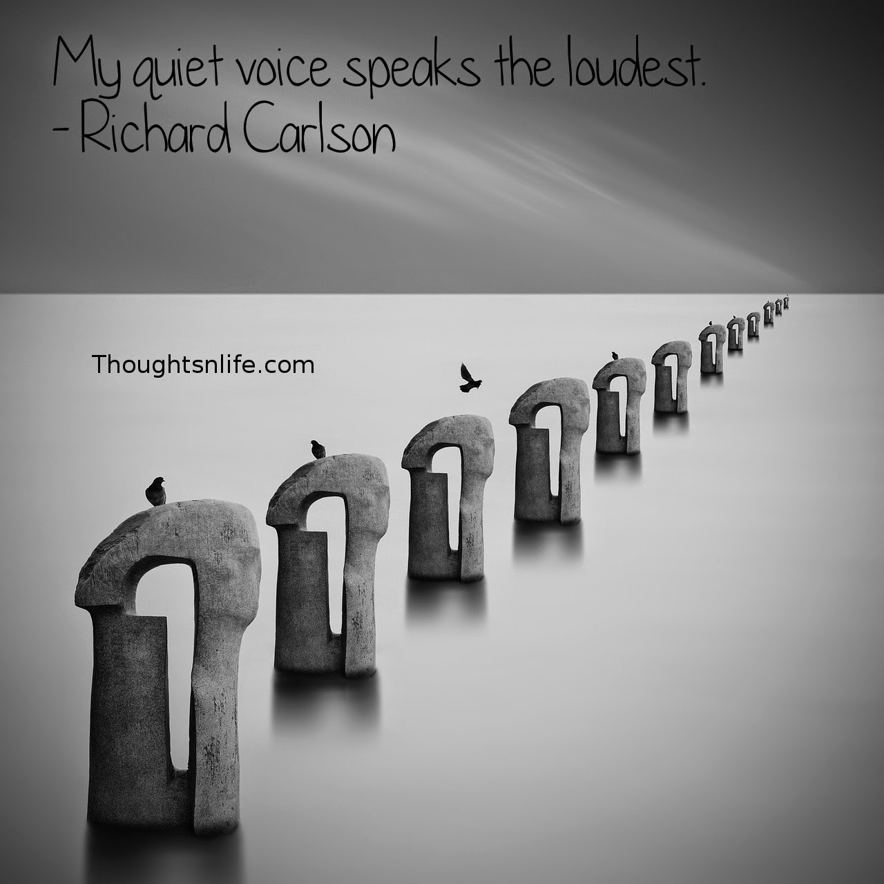 Thoughtsnlife.com: My quiet voice speaks the loudest. - Richard Carlson
