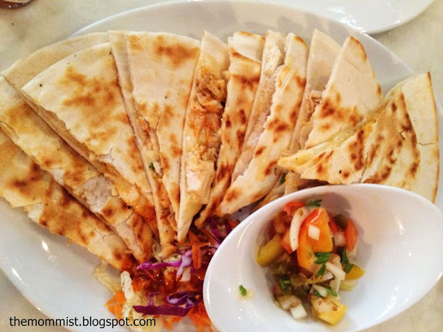 Chicken Quesadilla with Salsa at Cafe Republiq