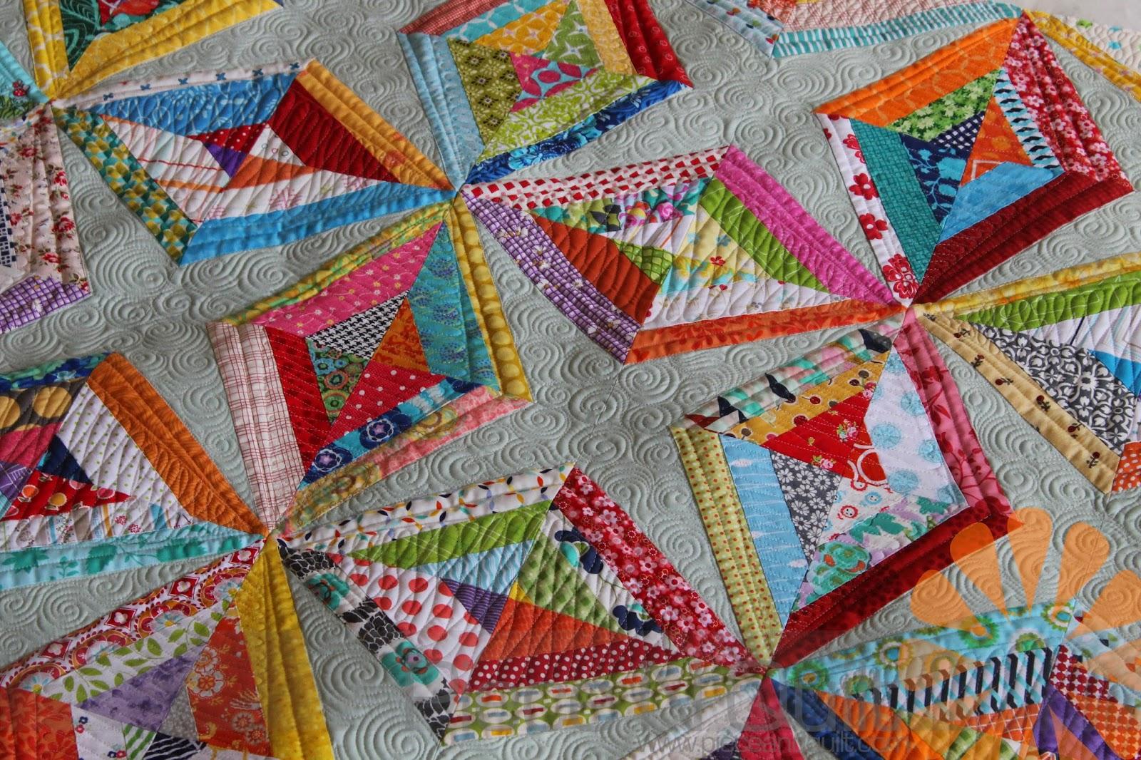 Piece N Quilt String Quilt Custom Machine Quilting By