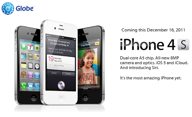 globe iphone 4s official plans subscriptions and pricing in the philippines