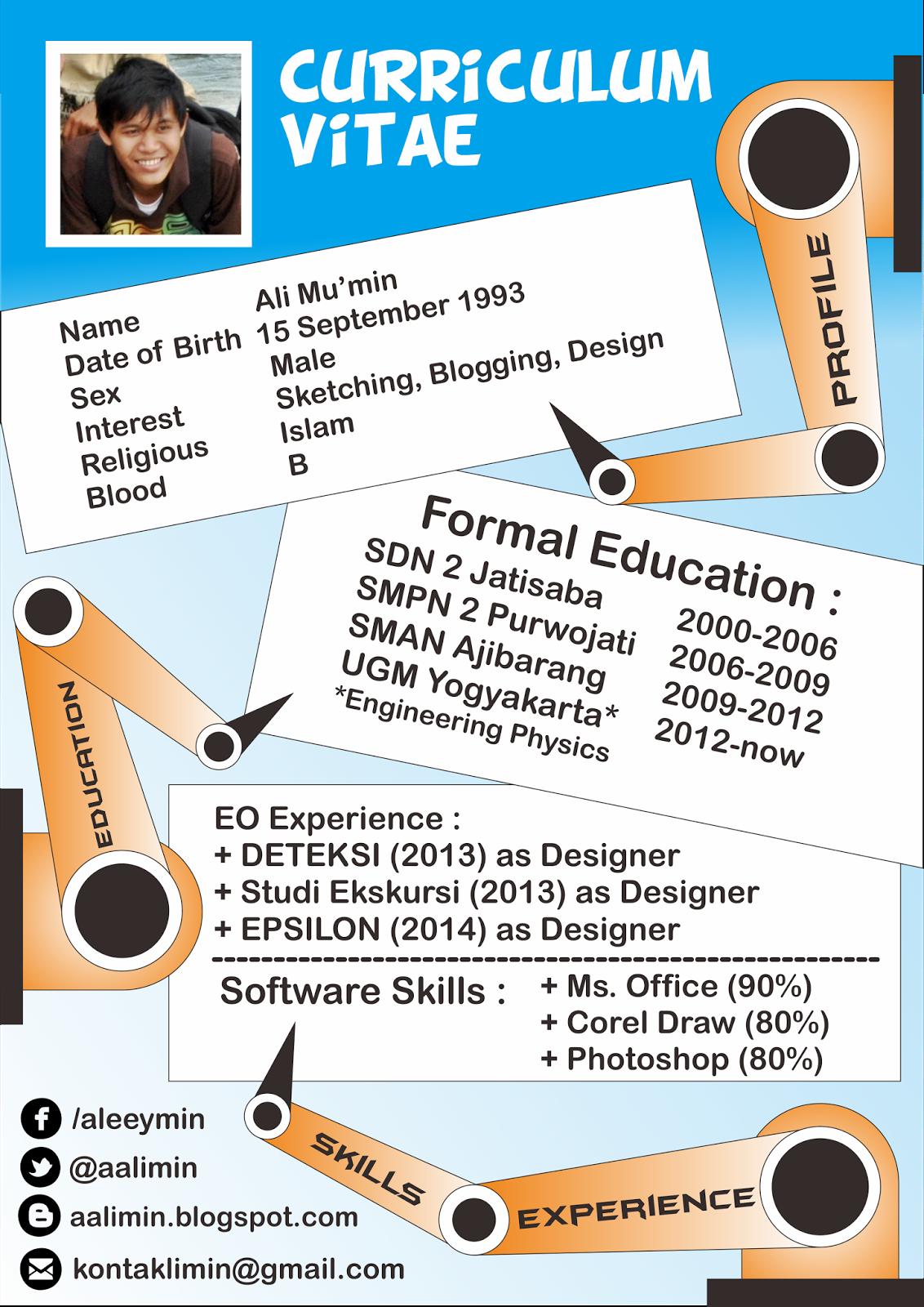 The Cunkcrink: Cara Bikin Design CV yang Menarik