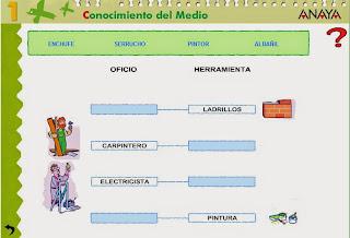 http://www.ceiploreto.es/sugerencias/A_1/Recursosdidacticos/PRIMERO/datos/03_cmedio/03_Recursos/actividades/5LosOficios/act2.htm