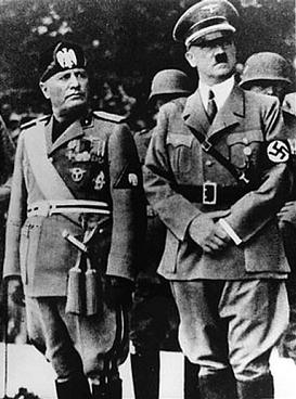 BENITO MUSSOLINI (29/07/1883–28/04/1945) Y ADOLF HITLER (20/04/1889-30/04/1945)