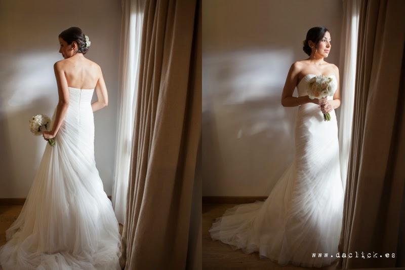 ramo y vestido de novia