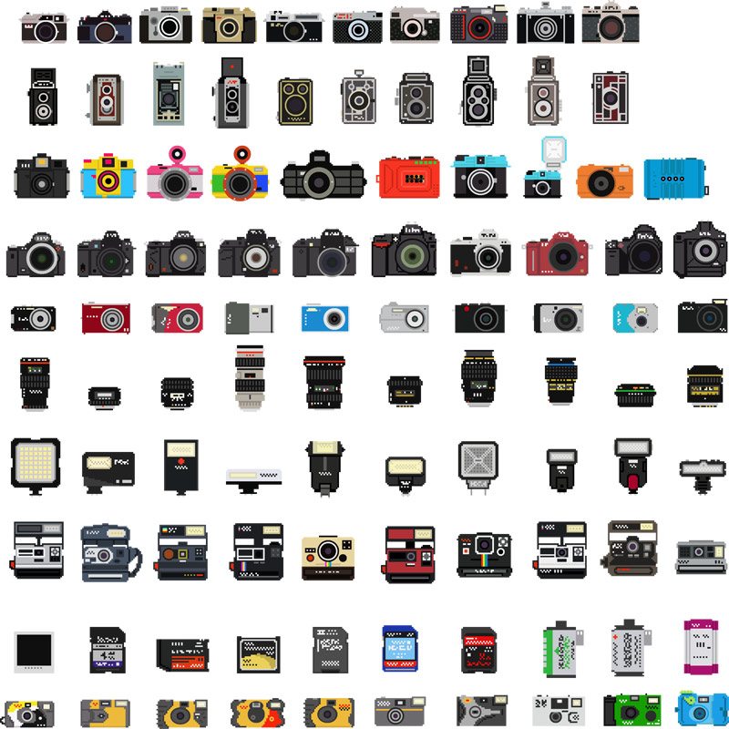 Bill Brown's Pixelated Cameras