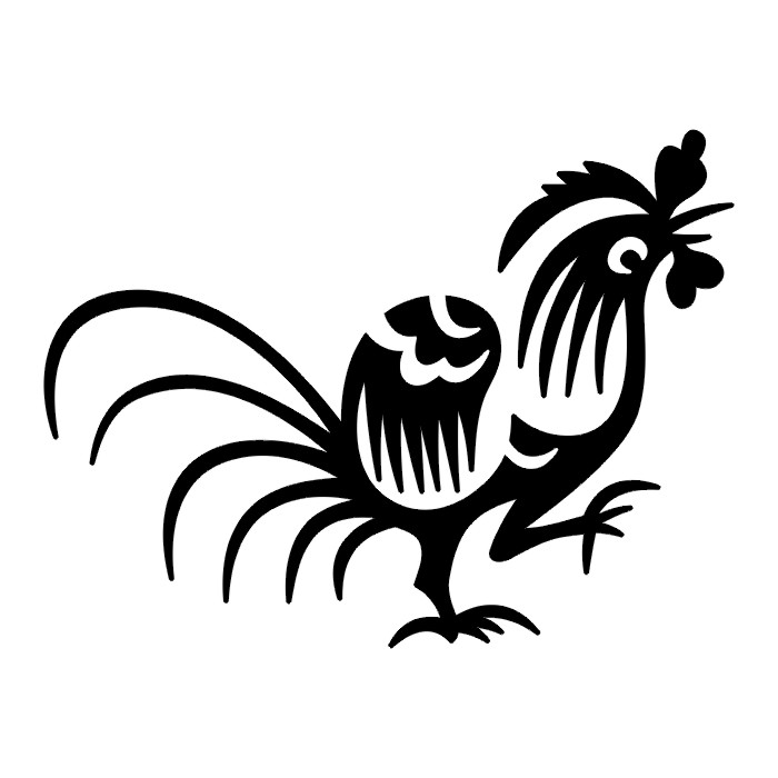 Rooster IV Tatto Black & White Tribal