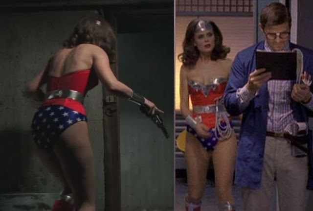 More images of Emily Deschanel as Wonder Woman in Bones episode