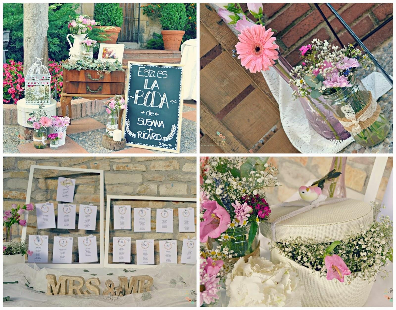 La decoraci n rom ntica de la boda de susana y ricard for Decoracion boda romantica