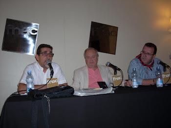 En la FNAC con Miguel Ángel Yusta y Jesús Arroyo