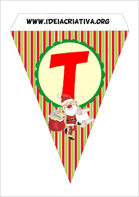 Bandeirinha Varalzinho Natal Decoração Festa de Fim de Ano