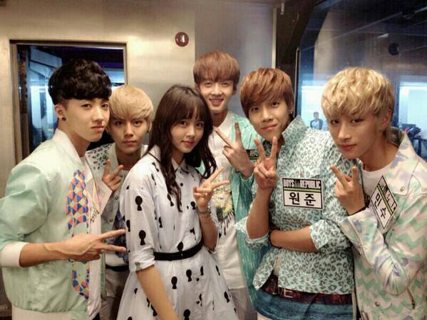 Kim So Hyun with Boys Republic Photo
