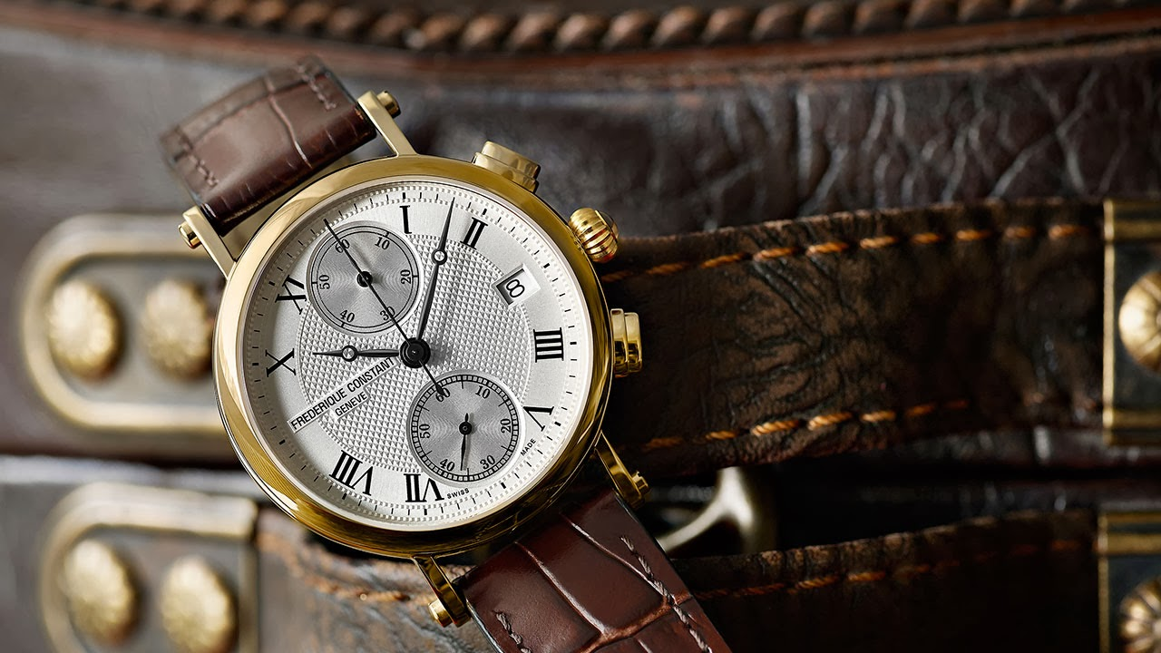 Frédérique Constant Lady Chronograph Quartz Watch brown