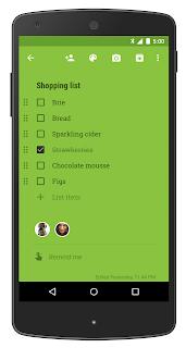 Google Keep - elenco della spesa condiviso