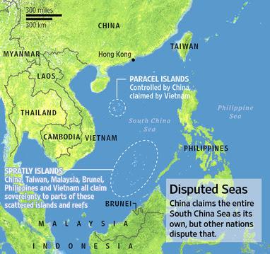 Peta Konflik Laut China Selatan