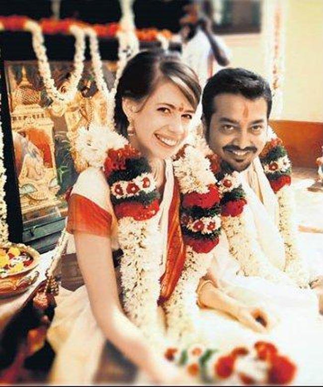Celebrity Weddings Dev D Actress Kalki Koechlin Marries Director Anurag Kashyap