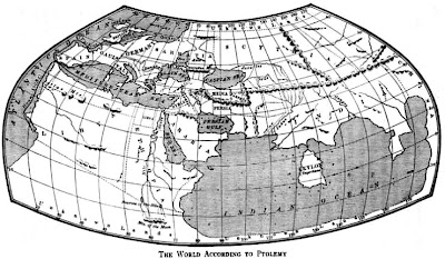 Mapamundi, segun Ptolemys