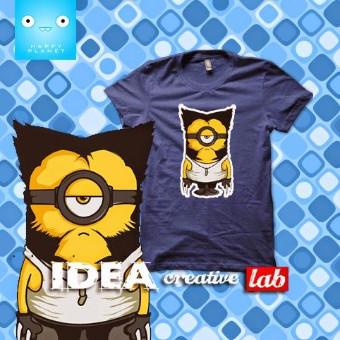 5aafdaca969d MINIONS WOLVERINE VERSION παιδικό μπλουζάκι με στάμπα. DENIM μακό