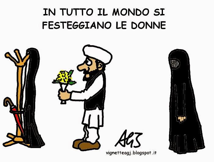 8 marzo, umorismo. vignetta