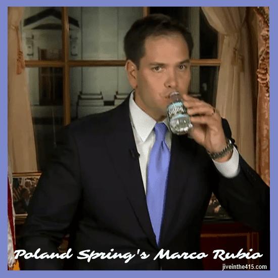 Poland Spring spokesperson Marco Rubio. jiveinthe415.com