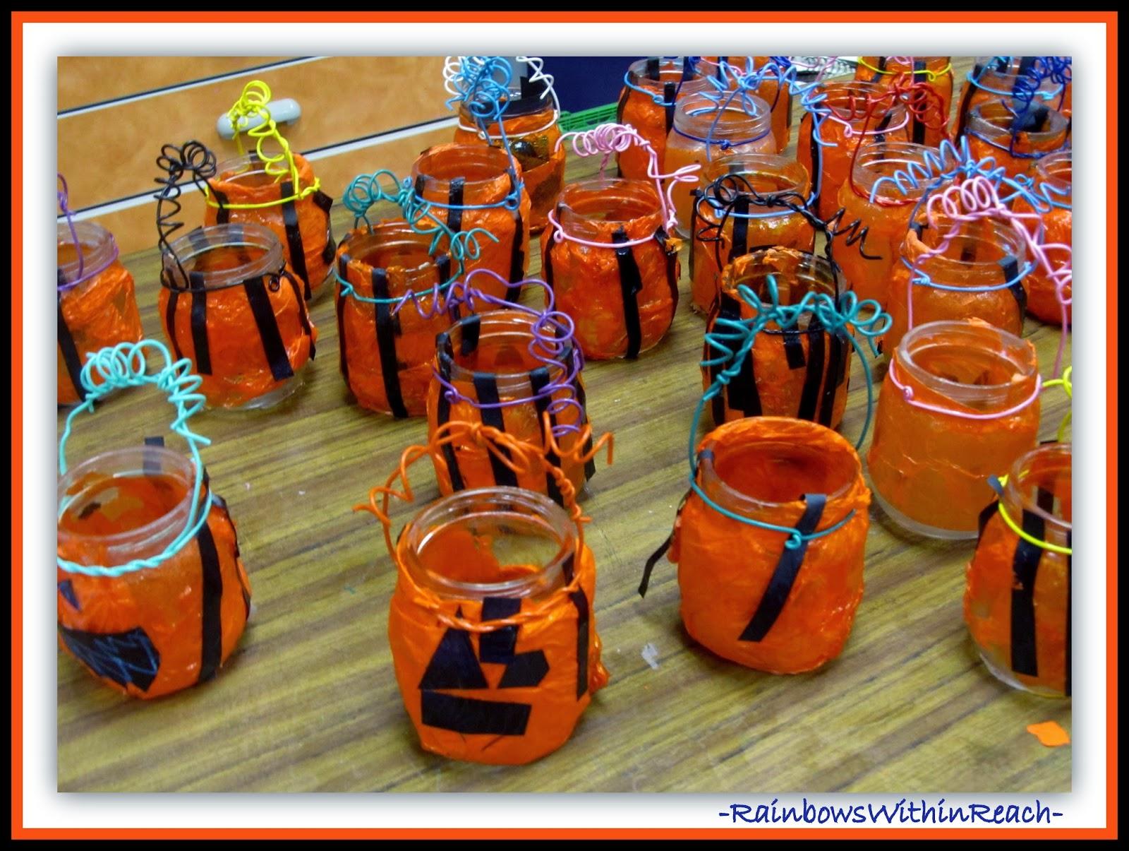 Halloween Jack-o-Lantern Craft for Children at RainbowsWithinReach