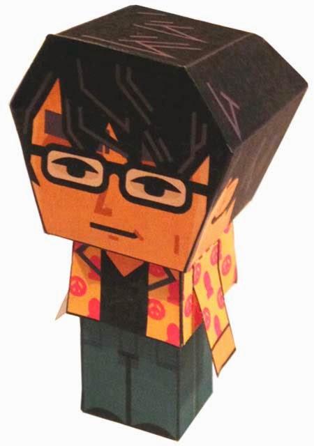 Hideo Kojima Paper Toy