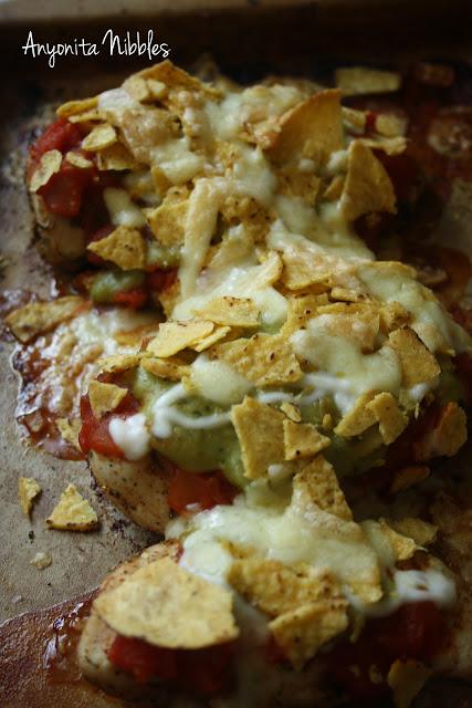 Ultimate Nacho Chicken still in the pan
