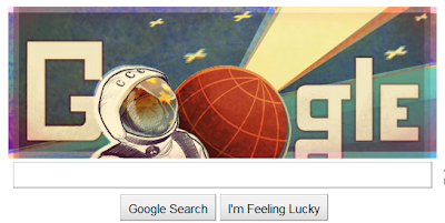 Google Doodle celebrate 50th Anniversary of the First Human Spaceflight, Google's first manned space flight doodle,
