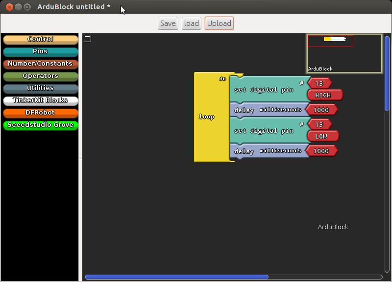 Arduino er ardublock a graphical programming language