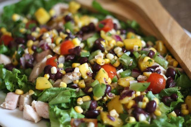 Mango Salsa Chicken Salad recipe by Barefeet In The Kitchen