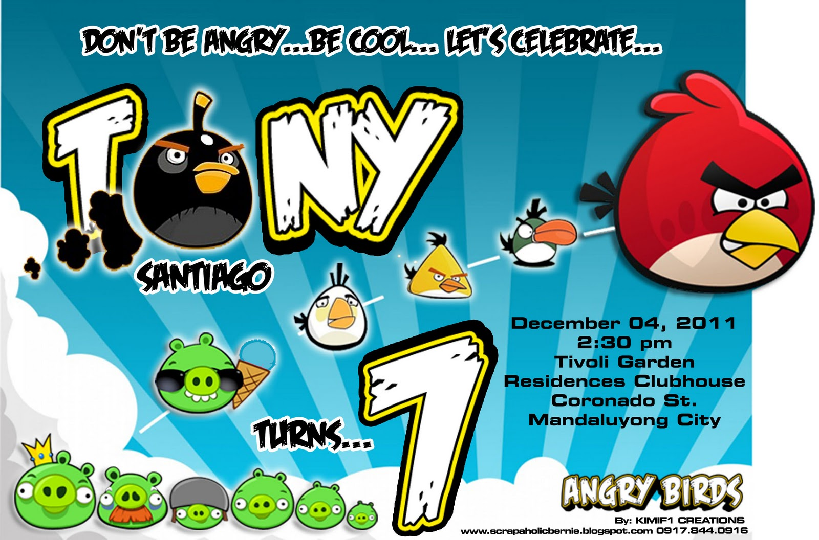 F1 Digital Scrapaholic: Angry Birds 3D Invites for SP Mom Pearl ...