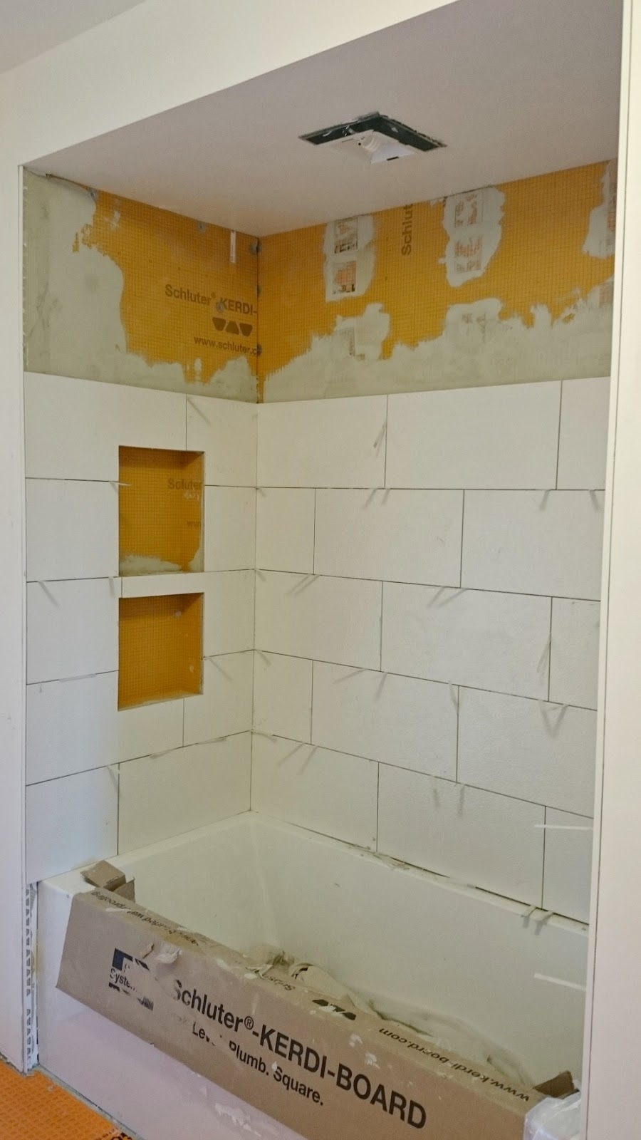 Schluter Kerdi Shower Cubby Installed