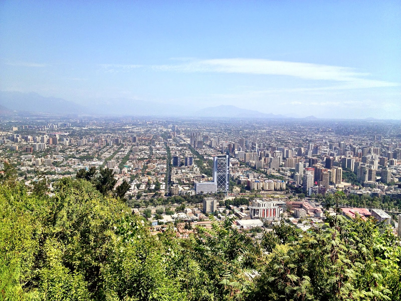 The view from Cerro San Cristobal, Santiago