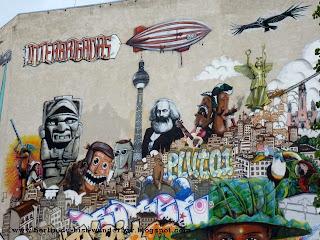 berlin, streetart, bilder, mural, graffiti, zeichnung, fotos, Interbrigadas, hotel, mercure
