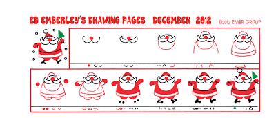 Ed Emberley's Santa Drawing Page