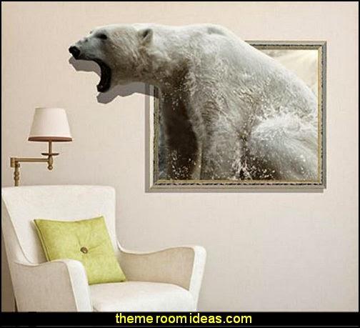 3D Roaring Bear Wall Sticker