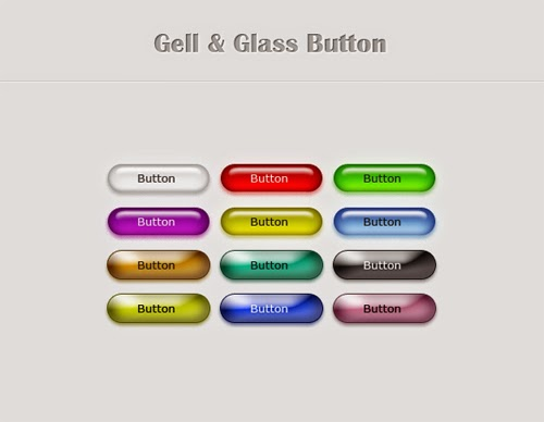 Free PSD Gell And Glass Button