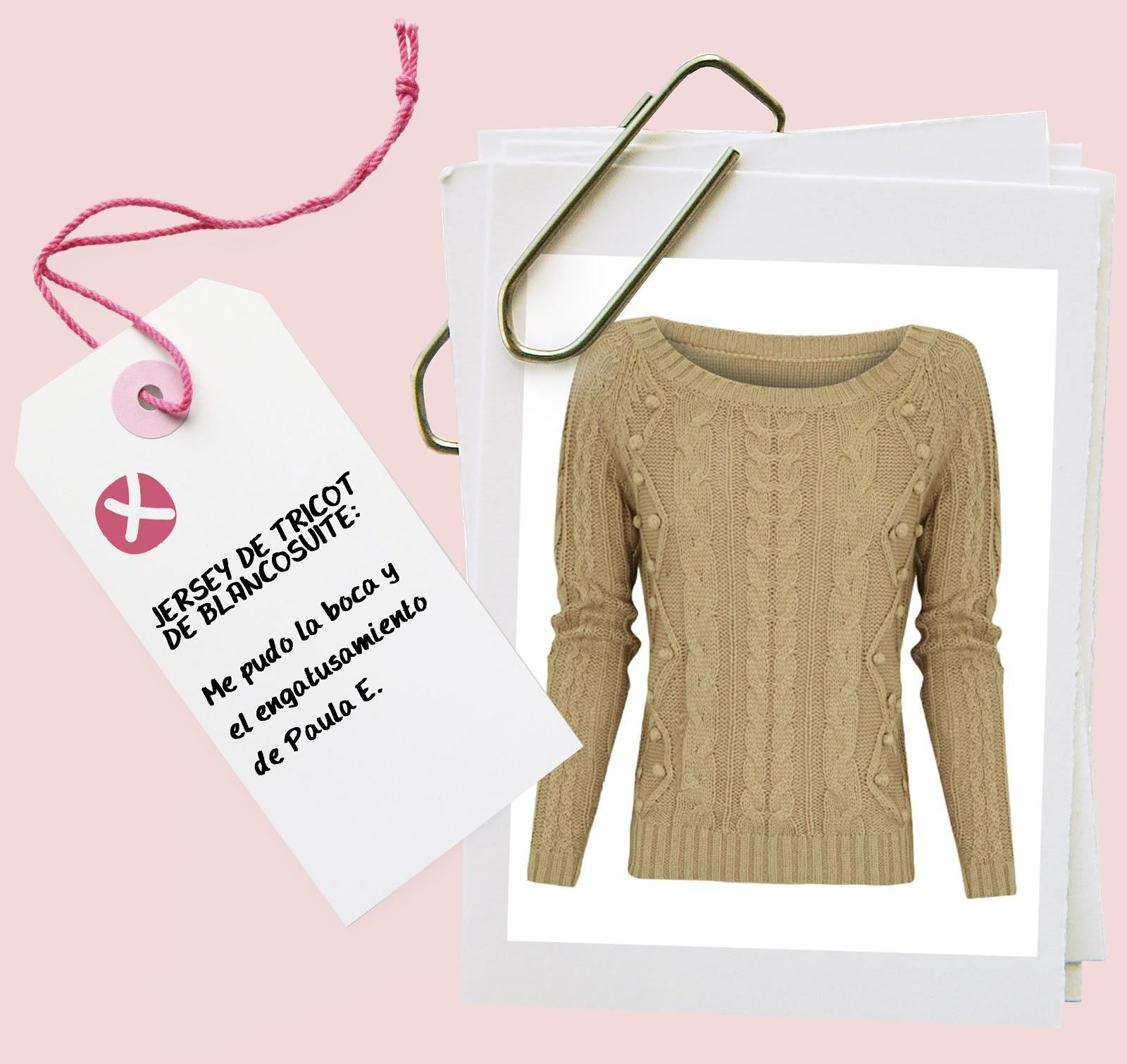jersey tricot bolitas blancosuite by Paula Echevarría hermanas bolena