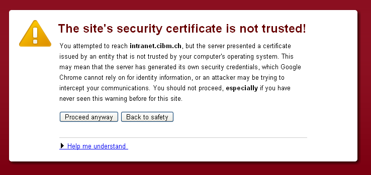 CrazyMuster: Security Certificate error on IE firefox and Chrome