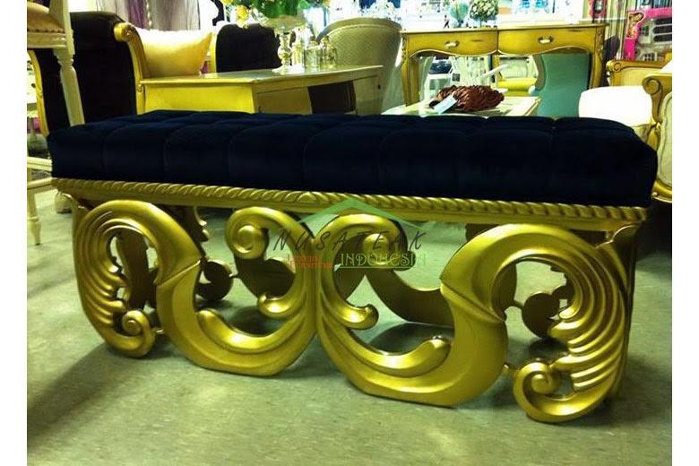Alexa Carved Ottoman Bench