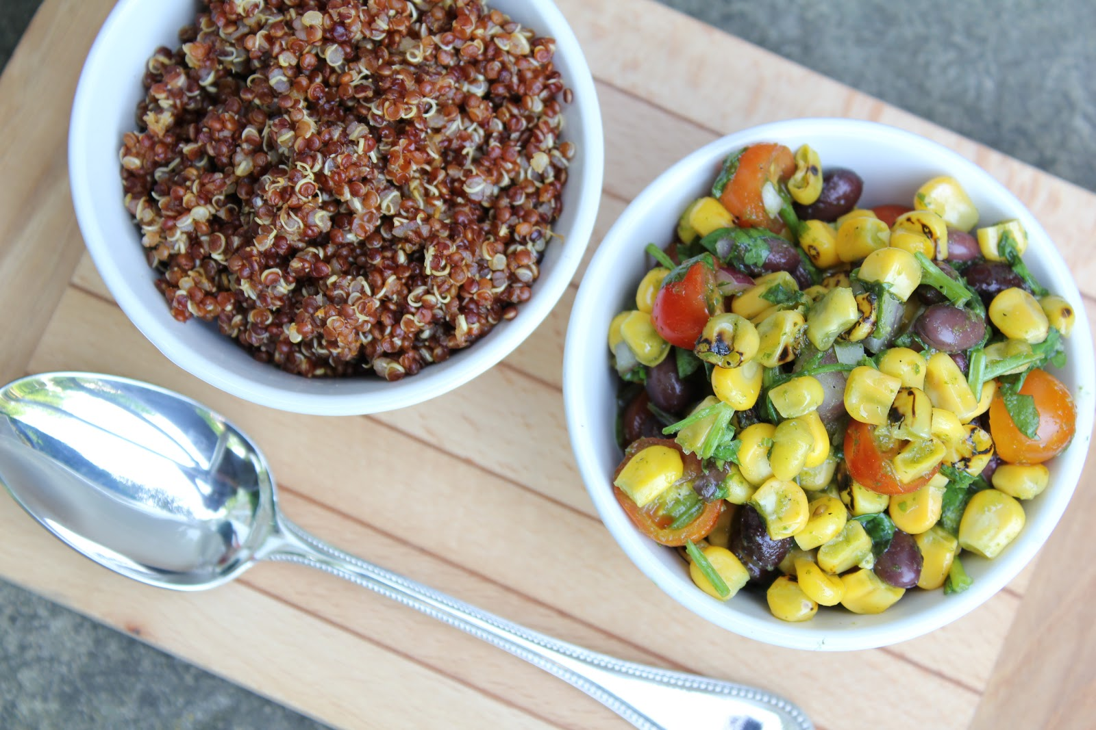 Red Quinoa Salad with Black Beans and Corn, Revisited ...