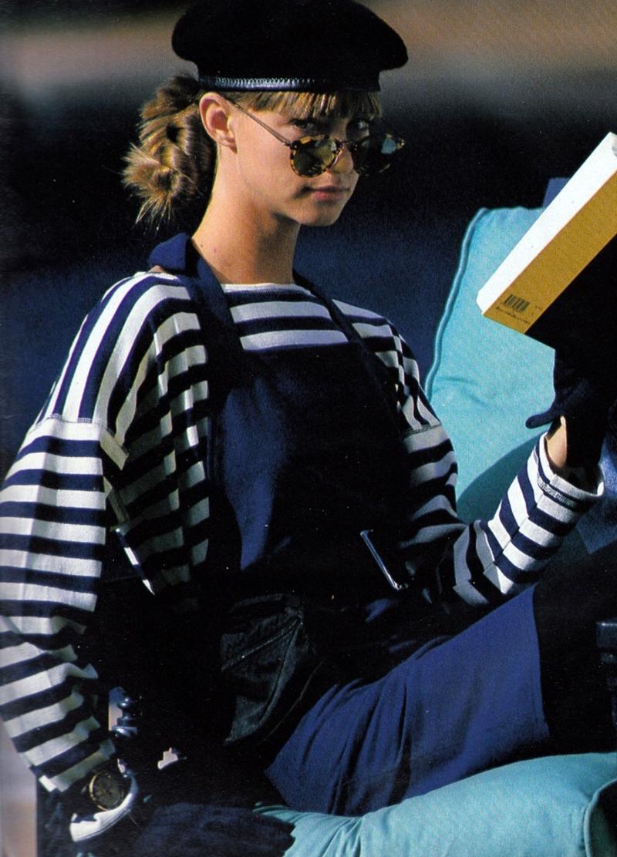 Breton top / How to style breton top / Story of breton stripes / Elle France February 1988 via fashioned by love british fashion blog