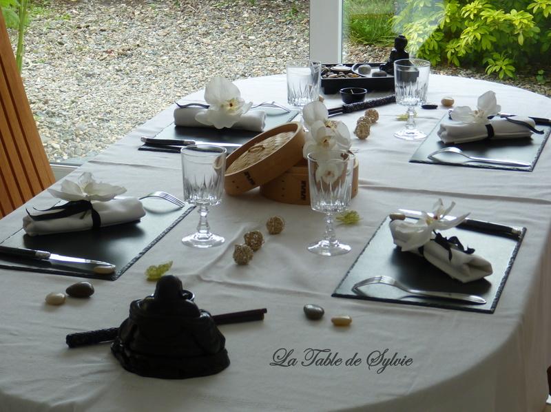 La table de sylvie table zen asiatique - Zen de passage ...