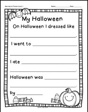 Kindergarten Halloween Ela Activities - kindergarten halloween ela ...