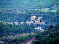 El poble de Rajadell des de la Solella del Puig