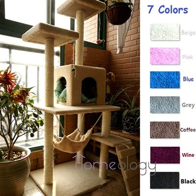Kitten Kitty Scratching Tree with Hammock Cat House